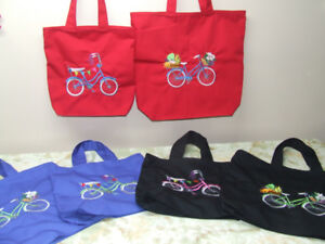 Decorated Aprons/ T shirts and totes