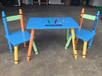 Crayon Toddlers Table and 2 Chairs