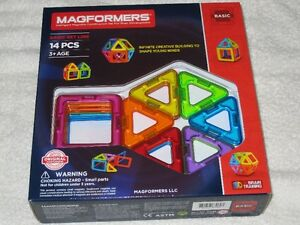 MAGFORMERS (14PC) - MAGNETIC CONSTRUCTION SET (BASIC)- BRANDNEW!