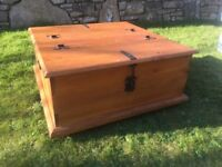 Large Solid Pine Chest Coffee Table