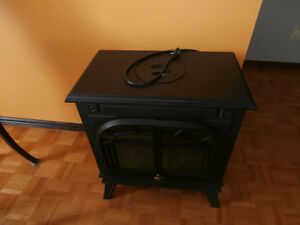 one nice light flame fireplace heater 1500 watts with controls