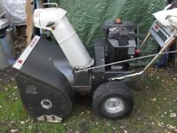 "Landmark snow blower, 10 hp.tecumseh ,28"" path"