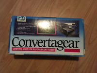 Convertagear control unit for fluorescent tubes