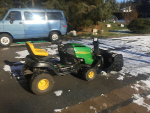 John Deere snow blower mower lawn tractor READY TO GO $1750