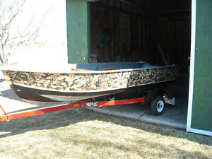 12 ft. and trailer <> Fishing / duck hunting