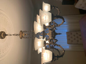 Chandelier and matching lights