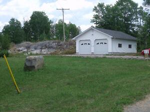 Beautiful 2 acre lot with access to the beautiful French River