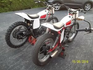 STREET BIKE IS SOLD ;For SALE 2 1976 YAMAHA XT500 FLAT TRACKERS