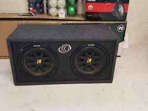 2 10 inch kickers  in ported box