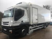 2013 13 Iveco Stralis 310 6x2 sleeper cab 28ft fridge Thermo king diesel unit