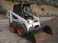 Bobcat 743 Skid Steer with Backhoe Attachment