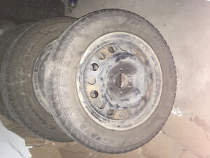 2 Winter Tires (with Rims) - 225/60R17