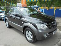 2007 56 KIA SORENTO 2.5 CRDI XE AUTO IN BLACK OVER GREY # LOW MILEAGE FSH #