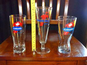 Vintage LABATT'S AWARD BEER GLASSES (3)