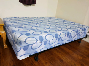 Twin mattress with box and adjustable frame