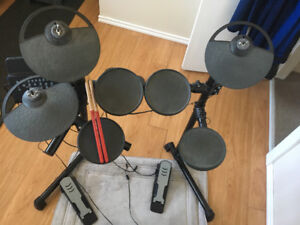 Electric Drum Kit with Stool and Sticks