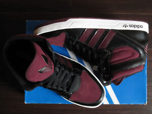 "Adidas ""Court Attitude"" Black and Purple Men's Shoes"
