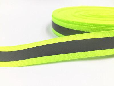 5-100 Yards 30mm Reflective Tape Strip Sew-on Fabric Trim Safty Vest 30mm New