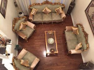 Royal, modern, master craft hand carved Gold Sofa Set for SALE!!