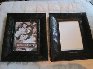2 Brand New Wood Rustic Antique Vintage Style Frames