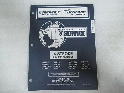 1997 Evinrude Johnson 4 Stroke 8/9.9 Model Final Edition Part Catalog P/N 438191