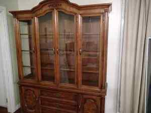 High quality, oak China cabinet