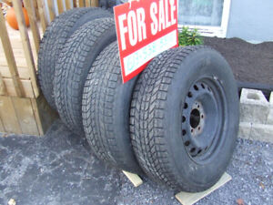 Set of 4 winter tires and rims For a 2017 Sierra Truck