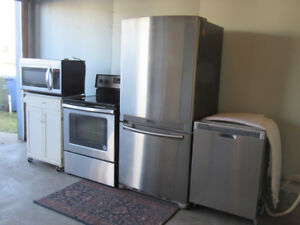 Stainless Steel Appliances Set of 4