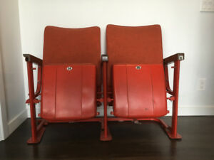 Unique vintage theatre chairs