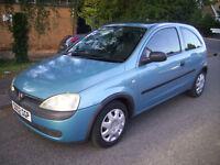 2002 (02 reg) Vauxhall Corsa 1.0 i 12v Club 3dr