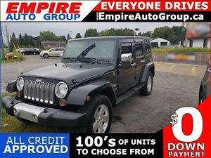 2008 JEEP WRANGLER UNLIMITED SAHARA * 4WD * PREMIUM CLOTH SEATIN