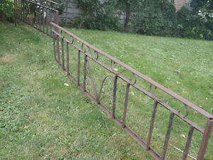 wrought iron fence or gate vintage