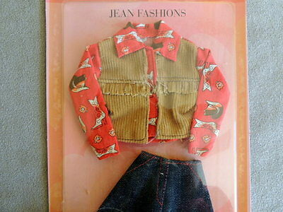 Barbie 2000s Pack FASHION Western Wear Skirt Top Vest Boots Denim Red NRFB