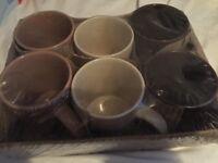 Mugs. Set of 6 mugs.