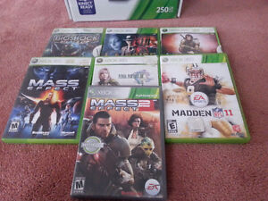 250GB XBOX 360 with 7games