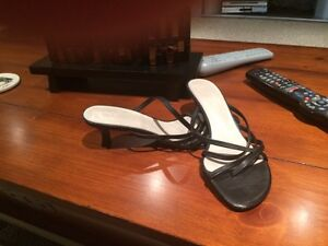 Aldo Black Strappy Sandals for Sale