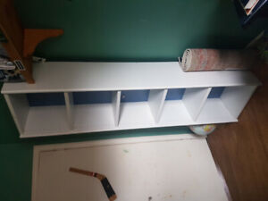 White bookshelve