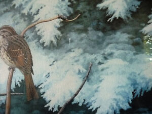 """Hand Signed, Numbered Lithograph by Peter Miehm """"Finches"""" 1981 Stratford Kitchener Area image 4"""
