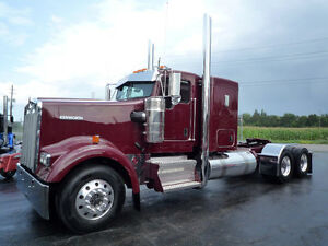 "2018 Kenworth W900-L Flat Glass 42 "" Flat Top, Cat. Power GLIDER"