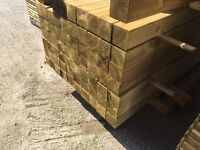 """Pressure Treated 4""""X 4""""X 8Ft Wooden/ Timber Fence Posts *New*"""