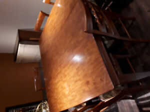 7 PC dining room table + chairs