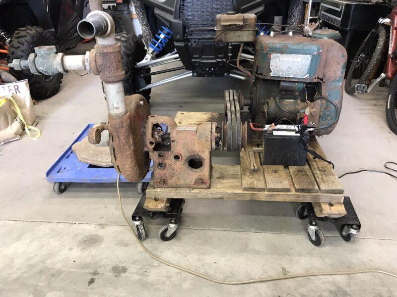 Wisconsin 2 Cylinder Engine. Goulds 2-DL pump. Irrigation system.