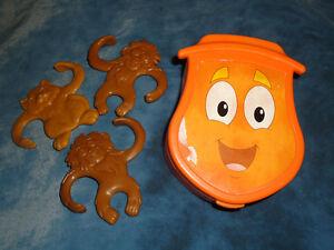 Dora the Explorer 3 monkeys in backpack plastic set Kingston Kingston Area image 1
