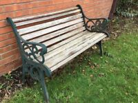 Cast iron garden bench (x2)