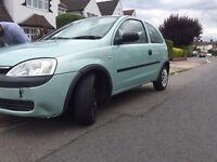 Vauxhall corsa 02 plate with mot till next year