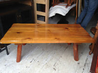 Solid Pine Living Room Coffee Table