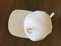 White Fred Perry baseball cap hat
