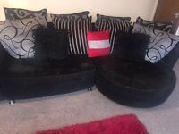 Black Cuddle sofa