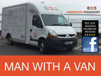 PROFESSIONAL MAN WITH VAN HIRE ** FRAGILE ITEMS ** BULKY ITEMS ** 24/7 * LAST MINUTE WORK WELCOME
