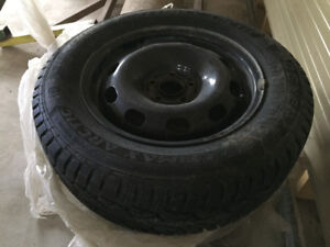 Excellent Snow tires and rims